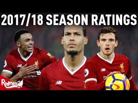 2017/18 Liverpool Player Ratings | Van Dijk, Robertson and Trent
