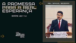 29/11/2020 - A PROMESSA PARA A REAL ESPERANÇA