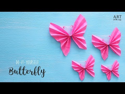 How to make a Paper Butterfly   Easy Butterflies for beginners   DIY Paper Crafts