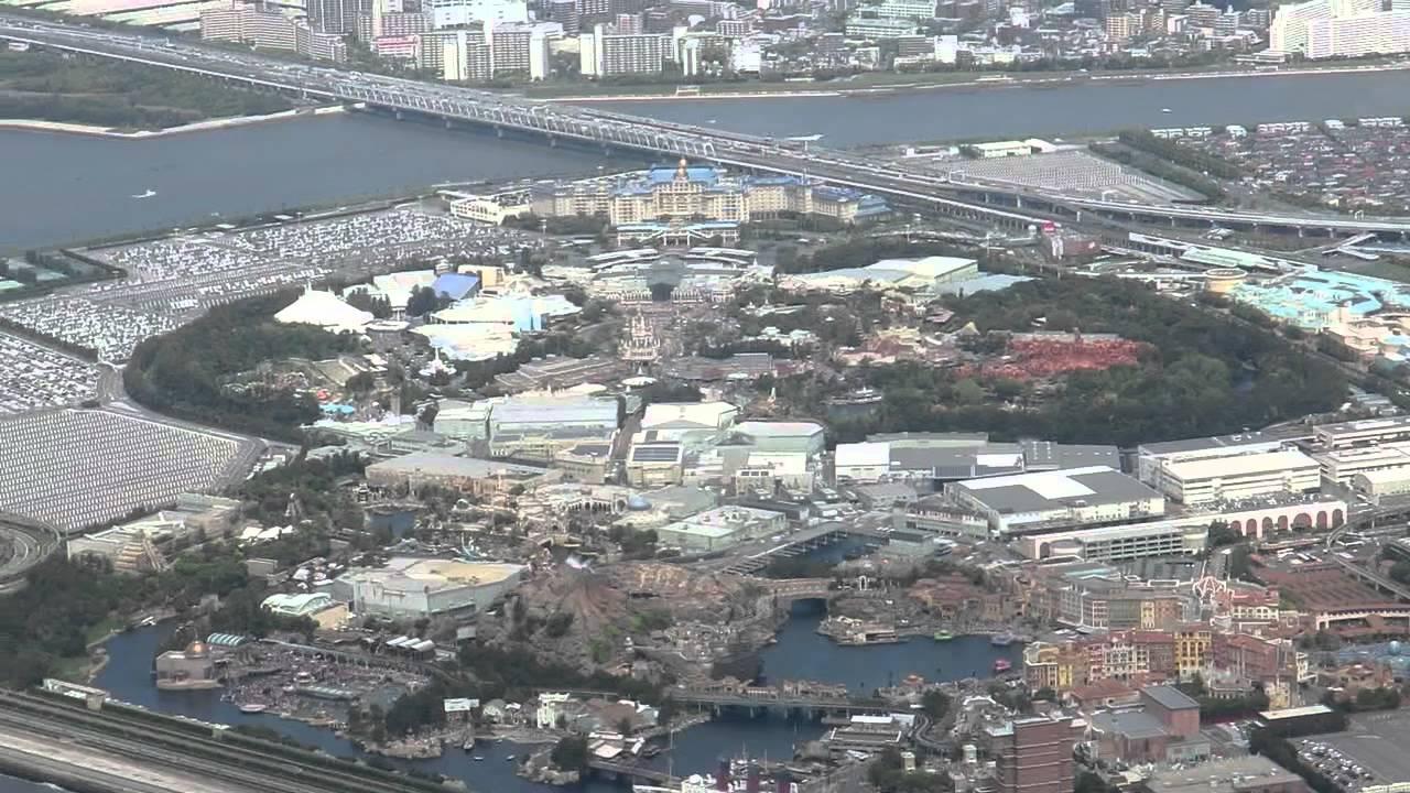 飛行機から見た東京ディズニーリゾートです。 - youtube