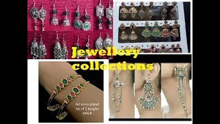 Imitation Jewellery Part2//Oxidised Earrings//Varieties of Bangles at Sowcarpet