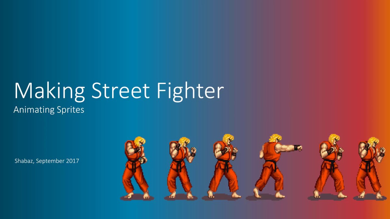 Working With Sprites Building Street Fighter With The Pi Youtube