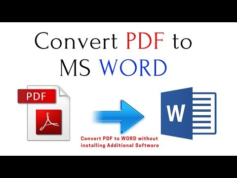 How To Convert PDF Files To MS Word Without Installing Addition Software