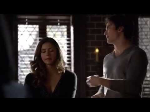 TVD: Damon and Elena get interupt by Kai while kissing