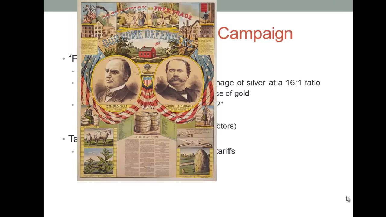 why was the election of 1896 so important