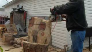 Chainsaw Wood Carving Demonstration Vid1.wmv