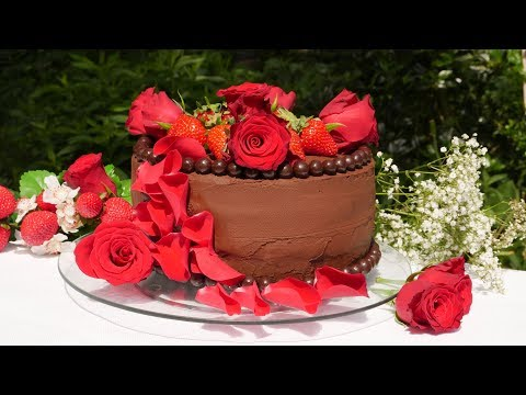 Erdbeertorte mit Rosen | Erdbeer Rosen Torte