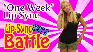 """One Week"" Lip Sync - Chandler is The Bare Naked Ladies - Lip Sync Battle 2014"