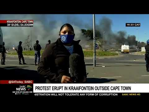 Protest erupts in Kraaifonteion outside Cape Town | Vanessa Poonah updates
