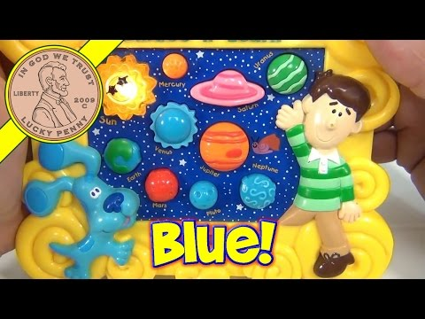 Blues Clues Learn The Planets Skidoo & Learn, 2000 Mattel Electronic Toys