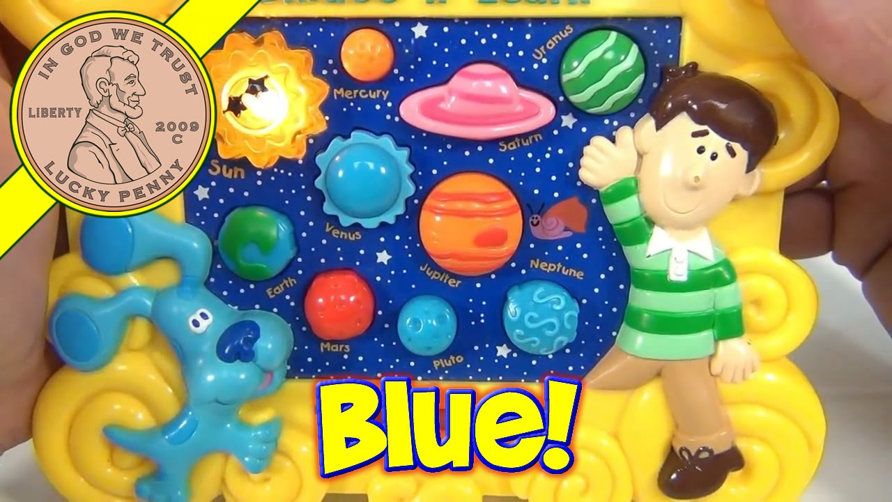 Blues Clues Learn The Planets Skidoo & Learn, 2000 Mattel ...