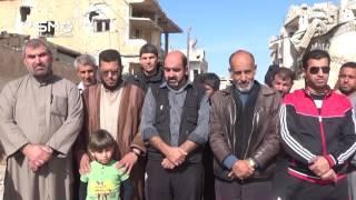 سوريا - درعا : وقفة تضامنية لأهالي درعا البلد مع أهلهم في حلب بجمعة الجيش الحر خيارنا