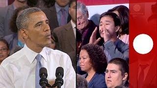 Vidéo : Obama répond à un perturbateur pendant son discours sur l' immigration