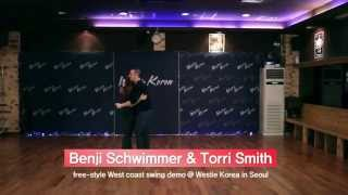 Benji Schwimmer & Torri Smith Free Style West Coast Swing Demo @ Westie Korea In Seoul