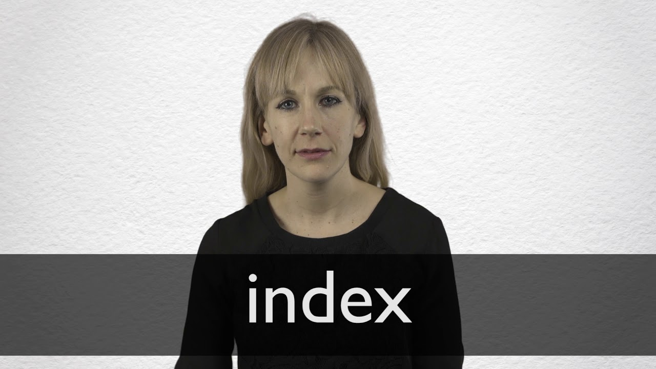 Index definition and meaning | Collins English Dictionary