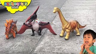 SKYHEART'S DINOSAUR TOYS Compilation | Jurassic world mighty megasaur trex dinosaurs for kids