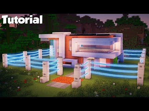Minecraft: How to Build a Mob Proof Modern House Tutorial - (Safe Redstone House)