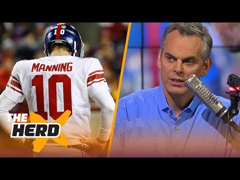 Colin Cowherd reacts to the New York Giants benching Eli Manning for Geno Smith  THE HERD