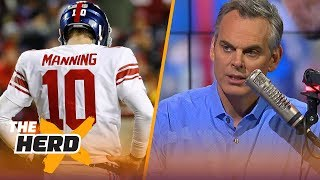 Colin Cowherd reacts to the New York Giants benching Eli Manning for Geno Smith | THE HERD