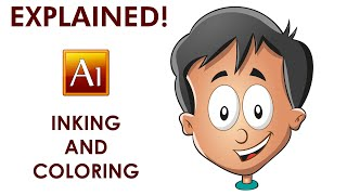 Drawing Inking and Coloring a Cartoon Character - Adobe Illustrator Tutorial