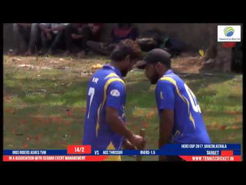 acc thrissur vs indo riders ashes tvm | Hero Cup 2017 | Vaikom - Kerala