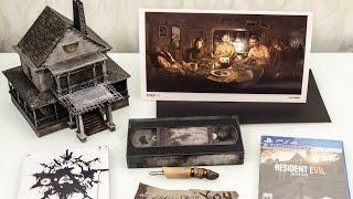 Распаковка редкого американского коллекционного издания Resident Evil 7 Biohazard