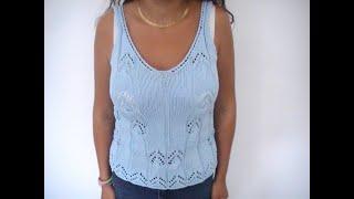 Top femme au tricot