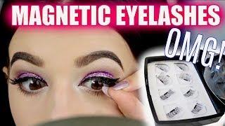 TESTING MAGNETIC EYELASHES! OMG! | Jordan Byers