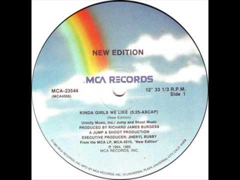 New Edition - Kinda Girls We Like (MCA-1984)