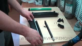 Заправка HP Q2612A  - инструкция