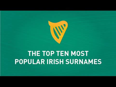 Top Ten Most Popular Irish Surnames