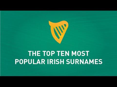 Top Ten Most Popular Irish Surnames