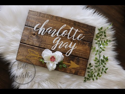 CRAFT WITH ME    rustic wooden name board