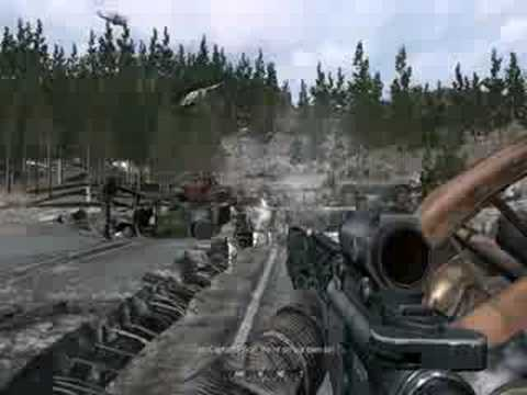 Call Of Duty 4 Gameplay Game Over