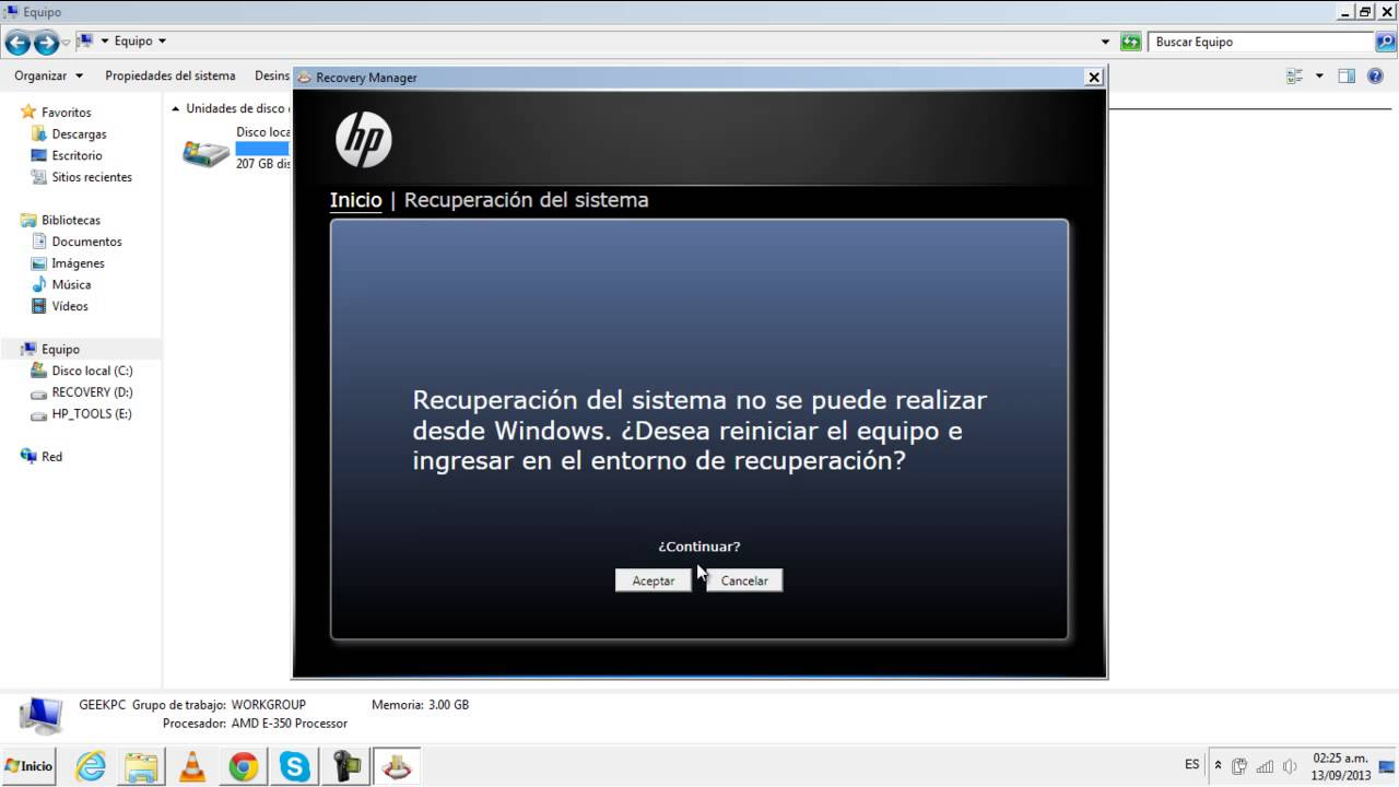 Hp Recovery Manager for windows 10