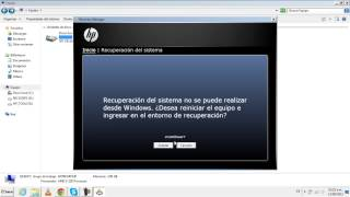 Tutorial.- Recovery Manager (Reformatear HP Windows 7)