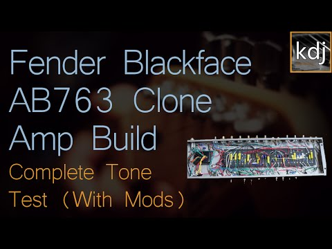 Fender Blackface AB763 Clone - Complete Tone Test (with Mods)
