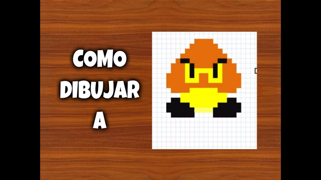 Como Dibujar A Goomba Y ShyGuy