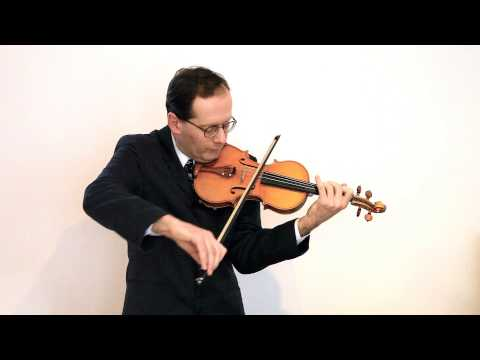 J. S. Bach Bourree and Gigue from Partita in E (BWV 1006) - Vaughan Jones (Violin)