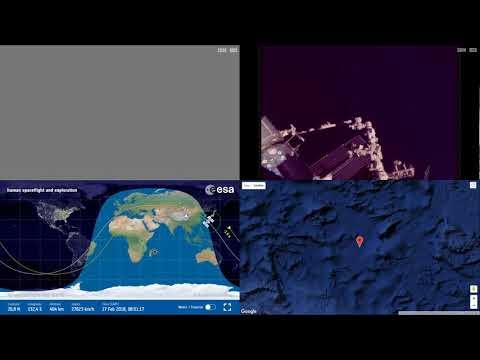 Orbital Sunset Over Asia - ISS Space Station Earth View LIVE NASA/ESA Cameras And Map - 80