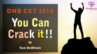 """DNB CET 2018 - """"You Can Crack It !!"""" by Dr Ravi Sharma Team MedMiracle"""