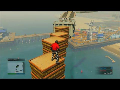 GTA 5 - Parkour Deathmatch - SUPER OCEAN PARKOUR