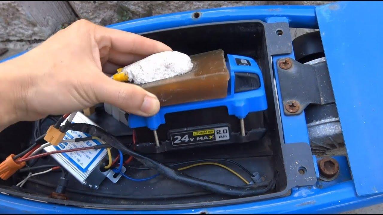 Diy  Razor E300 Electric Scooter W   Kobalt 24v Li