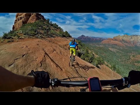 Hangover Trail Mountain Biking - Sedona, Az - Front and rear cameras  (Exposure!)