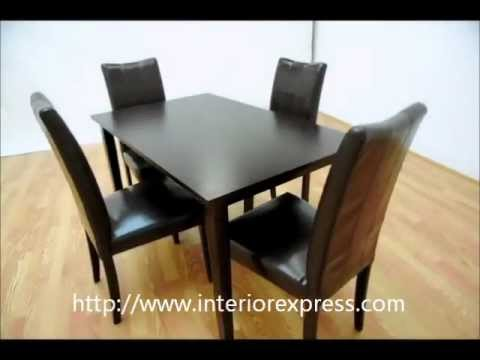 InteriorExpress Eden Dark Brown 5 Piece Modern Dining Set