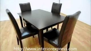 Interiorexpress Eden Dark Brown 5 Piece Modern Dining Set