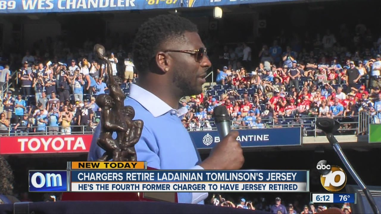Ladainian Tomlinson Emotional As Chargers Retire His