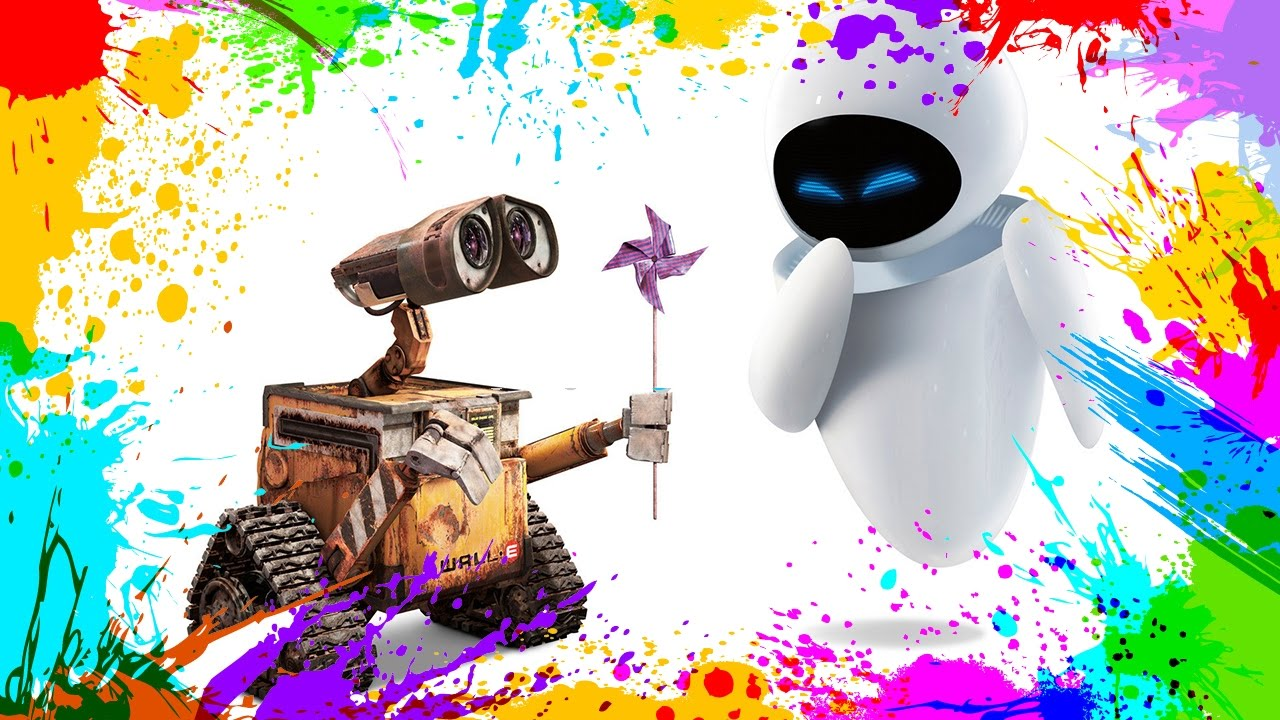 Painting WALL-E | Coloring Book Pages for Kids | Paint and color ...