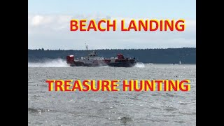 Canadian Coastguard Hovercraft on The Beach Treasure Hunting