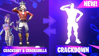 CRACKSHOT DOING CRACKDOWN EMOTE | FORTNITE | (Crackabella Included!) [CRACKSHOT EMOTE]
